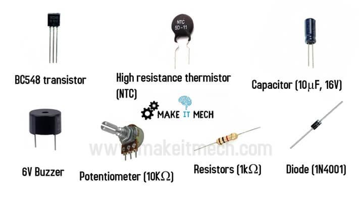fire detector components