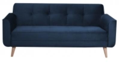 Canapé En Velours Bleu Foncé © Cdiscount