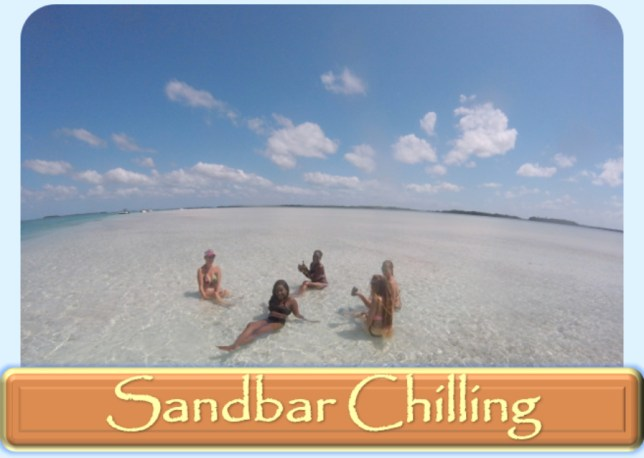 key west sandbar chilling