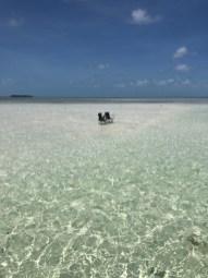 Key west sandbar with chairs