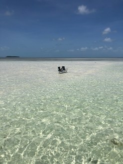 Key west sandbar with chairs