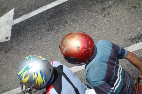 Using a Mended Split Helmet