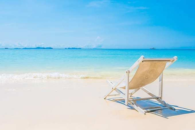 Ταπετσαρία Υπολογιστή Καρέκλα στην Παραλία