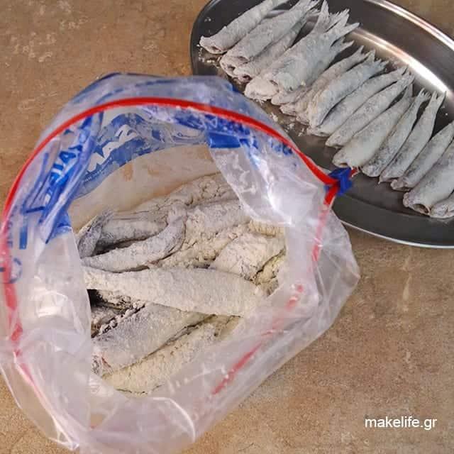 Tip για να αλευρώνουμε τα ψάρια γρήγορα