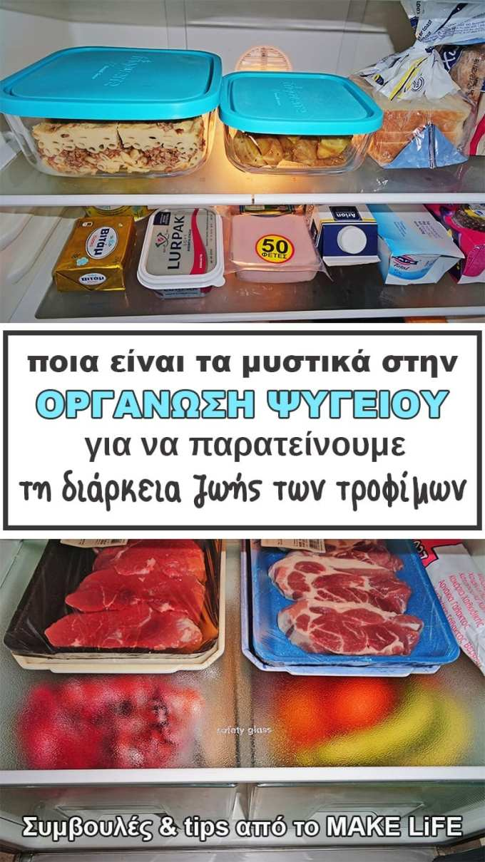 Keep your fridge organized and clean - Οργάνωση Ψυγείου: πως τοποθετώ τα πράγματα σωστά στα ράφια