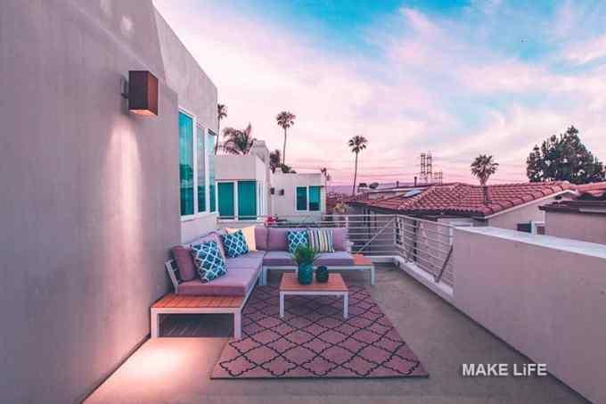 terrace decoration ideas - Πως θα κάνουμε ένα μικρό εξοχικό σπίτι να μοιάζει μεγαλύτερο