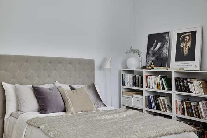 "decoration bedroom books - Τα ""Ναι"" και τα ""Όχι"" στη διακόσμηση της κρεβατοκάμαρας"