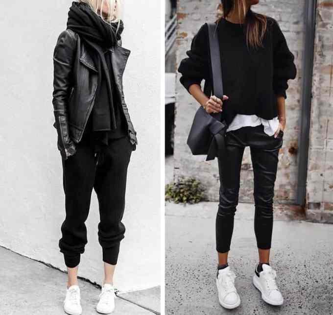 Λευκά sneakers. Έτσι θα τα συνδυάσεις το χειμώνα