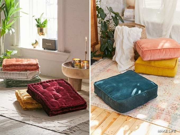 FLOOR CUSHIONS DECOR - Έτσι θα εντάξεις το βελούδο στη διακόσμηση του σπιτιού σου