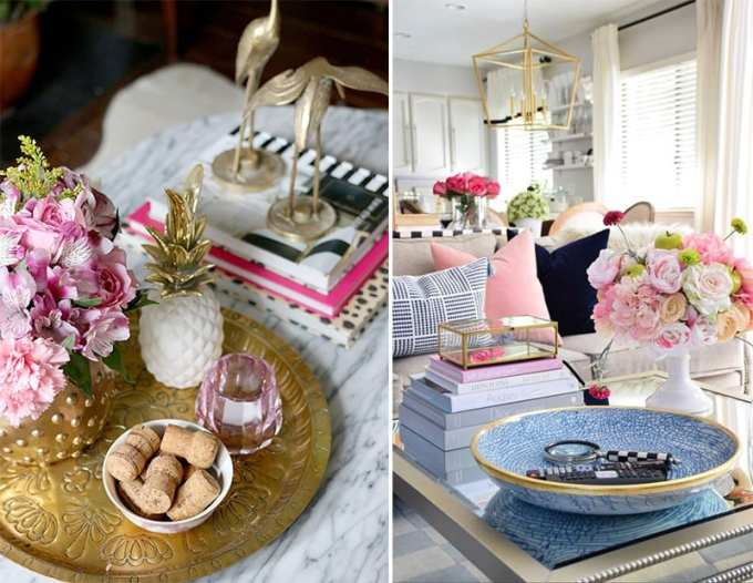 coffee table decoration ideas 4 - Πως να διακοσμήσεις το τραπεζάκι σαλονιού με 4 απλές κινήσεις
