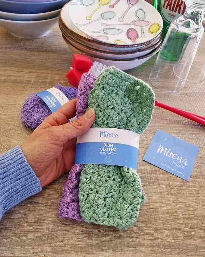 dish clothes handmade - Χειροποίητα σφουγγαράκια κουζίνας & επαναχρησιμοποιούμενα πανάκια