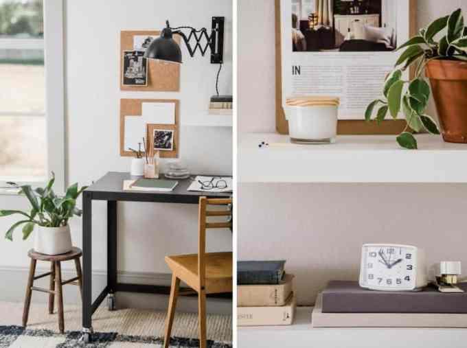 home office decoration collage1 - Πως να δημιουργήσεις έναν εμπνευσμένο χώρο γραφείου στο σπίτι
