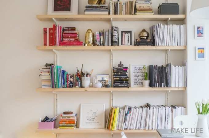 Stylish Bookshelf Decorating Ideas - Ιδέες για αποθήκευση βιβλίων και πως να διακοσμήσεις τα ράφια σου