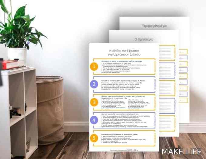 5 Step Process for Organizing Any Space - Η μέθοδος των 5 βημάτων στην Οργάνωση Σπιτιού + Εκτυπώσιμο