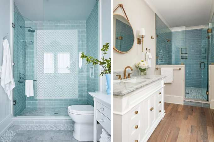blue tiles bathroom - Τα κυρίαρχα χρώματα για το μπάνιο. 5 ιδέες που θα λατρέψεις