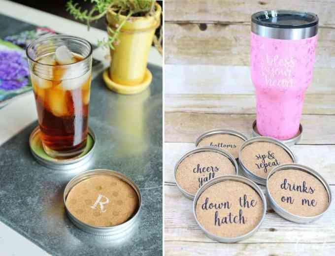 lid jars as coasters 2 - Αξιοποίησε τα καπάκια από τα γυάλινα βάζα φτιάχνοντας σουβέρ