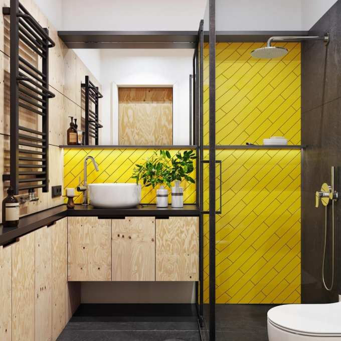 yellow bathroom - Τα κυρίαρχα χρώματα για το μπάνιο. 5 ιδέες που θα λατρέψεις