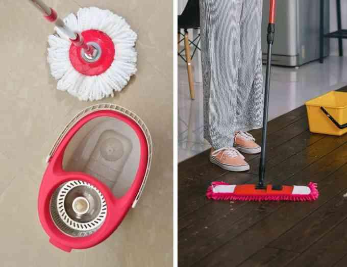 flat mop and circular mop - Ποια είναι η καλύτερη σφουγγαρίστρα & tips για τέλειο σφουγγάρισμα