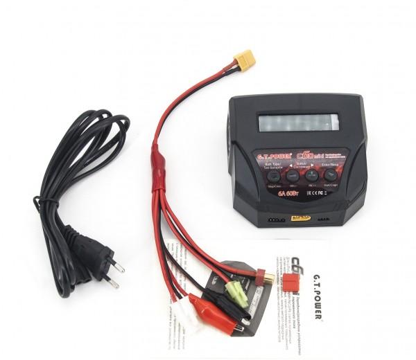 Универсальное зарядное устройство G.T.Power C6D mini 6A 60W+ комплект проводов