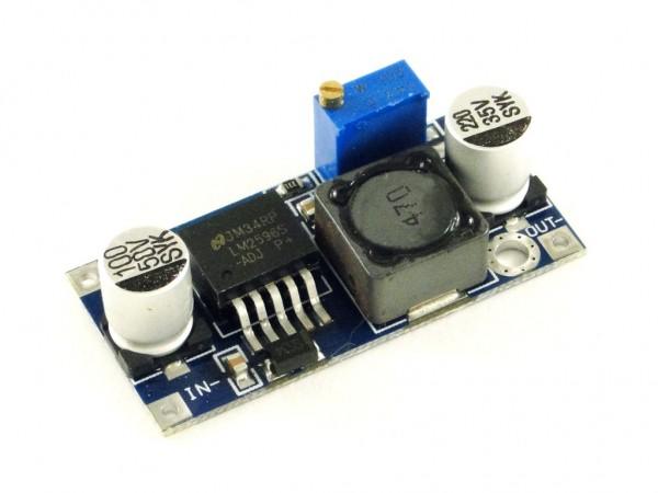 Преобразователь понижающий, импульсный (StepDown) на базе LM2596S, 3A