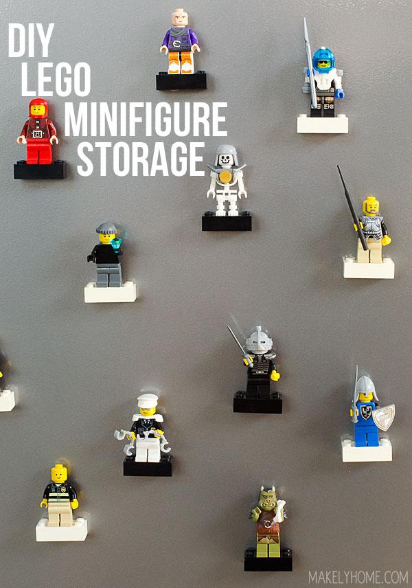 DIY Lego Minifigure Storage via MakelyHome.com