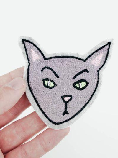 Halloween Katze als Stickdatei herunterladen