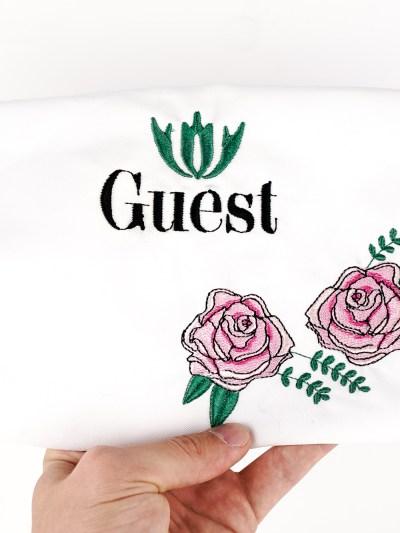 Stickdatei Gast mit Rosenornamenten