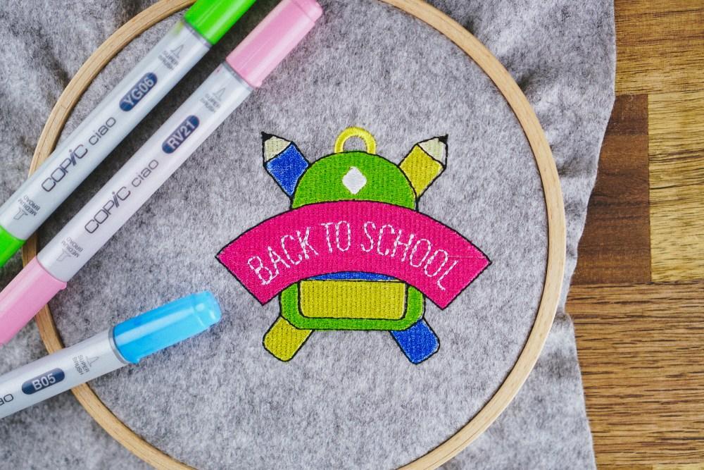 Stickdatei Back to school