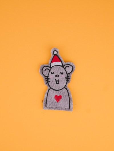 Stickdatei Weihnachten / Maus (Anwendungsbeispiel)