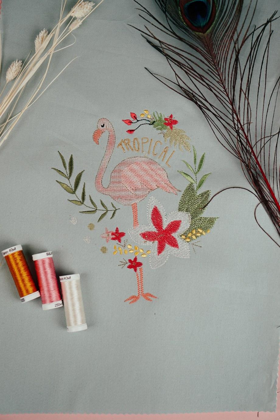 Stickdatei Flamingo