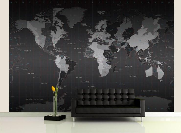 карты часовых поясов