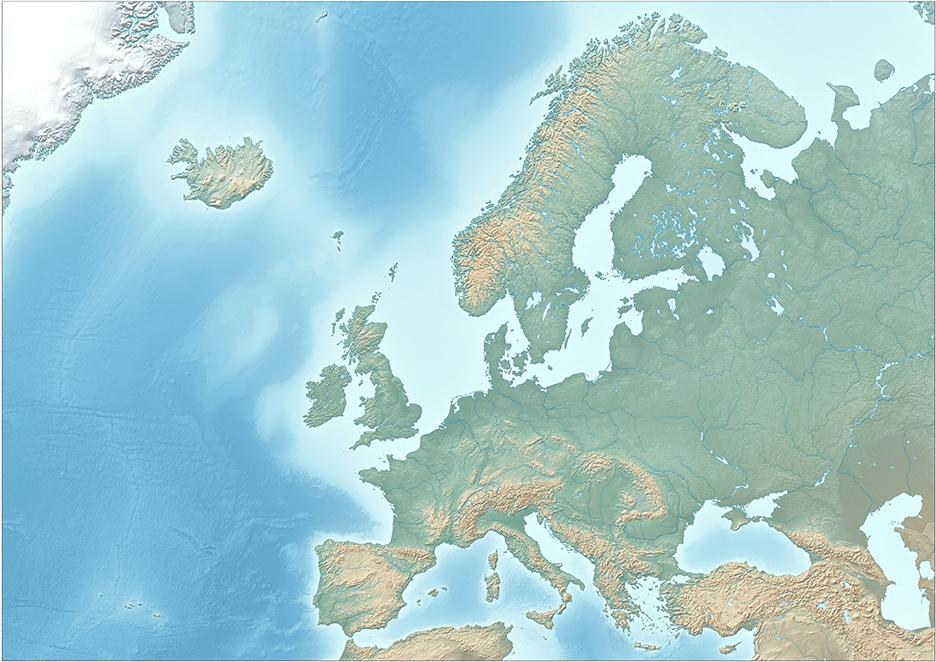 Карты на заказ рельеф европы
