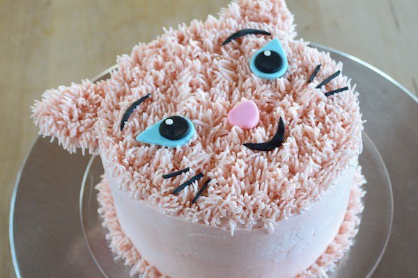 DIY Furry Cat Birthday Cake