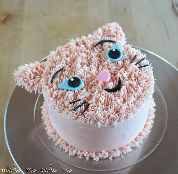 Sensational Diy Furry Cat Birthday Cake Make Me Cake Me Personalised Birthday Cards Arneslily Jamesorg