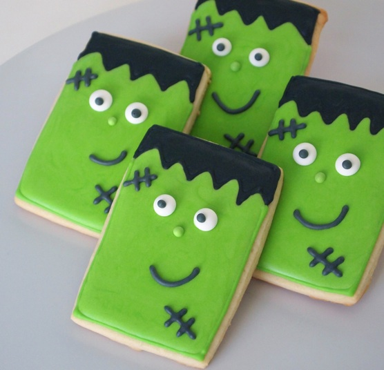Basic Cookie Cutter Shapes: A Rectangular Frankenstein for Halloween!