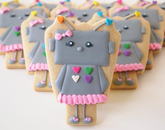 Robot Girl Cookies