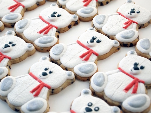 Polar Teddy Bear Cookies: You've Got All Day for a Dozen Cookies, So Why Not?