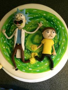 Rick and Morty Cake
