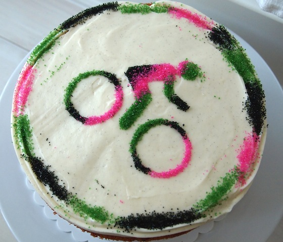 A Sprinkle-y Bicycle Cake: Cake Decorating for the Lazy Baker