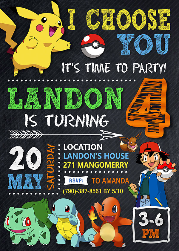 pokemon birthday invites printable pokemon invite pikachu invitation pokemon birthday party pokemon printable
