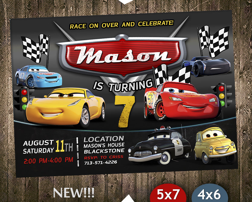 disney cars party invites disney cars invite cars 3 disney cars birthday party disney cars printable diy