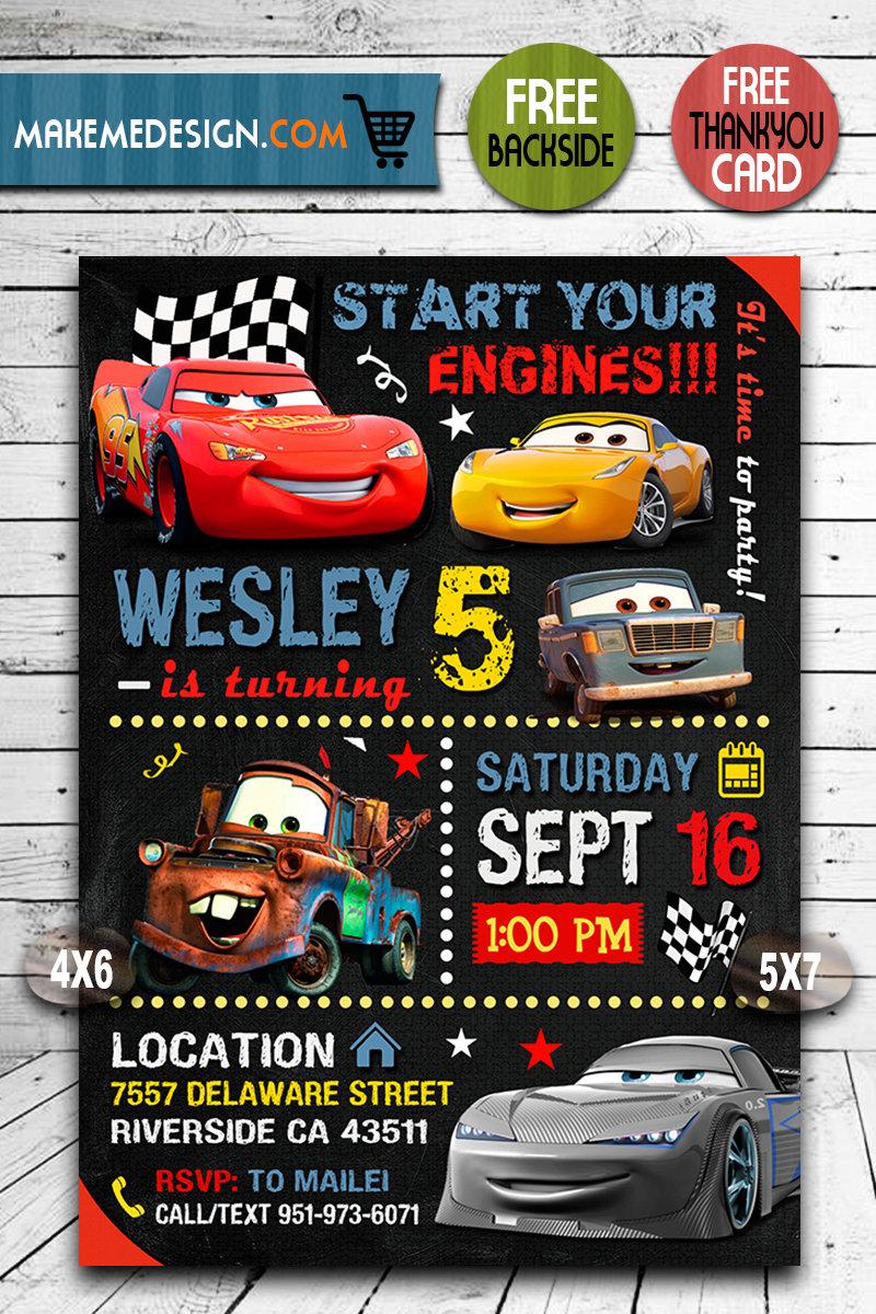 disney cars invitation disney cars invite cars 3 disney cars birthday party disney cars printable diy