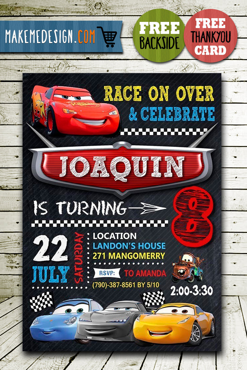 disney cars birthday invitation disney cars invite cars 3 disney cars birthday party disney cars printable diy