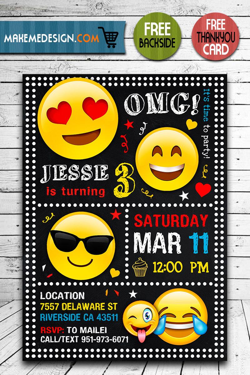 emoji invitation omg invitation emoji invite omg invite emoji birthday party emoji printable emoji card diy