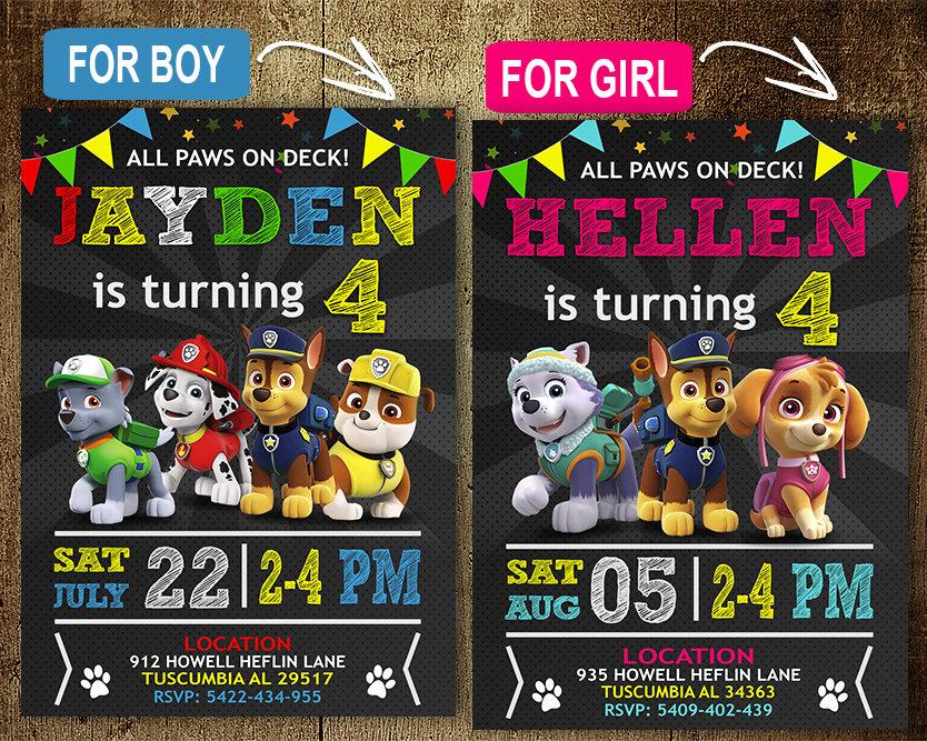 paw patrol birthday invitations template paw patrol invite paw patrol birthday party printable paw patrol