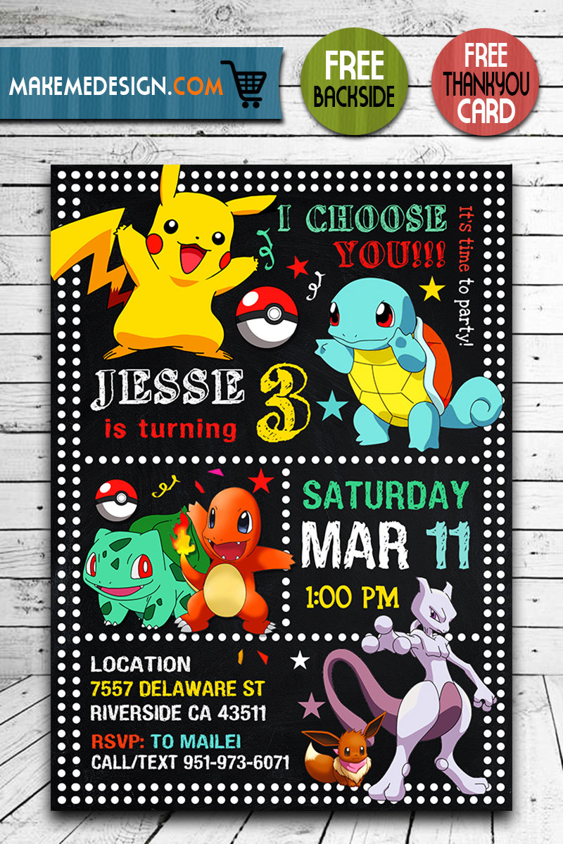 pokemon birthday invites pokemon invite pikachu invitation pokemon birthday party pokemon printable