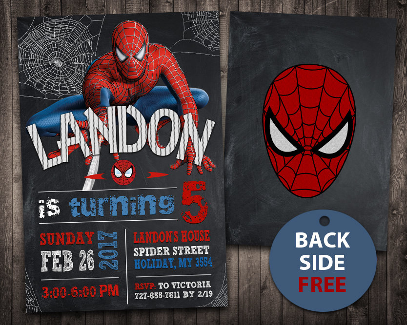 spiderman invitation spiderman invite spiderman birthday party spiderman printable spiderman card diy
