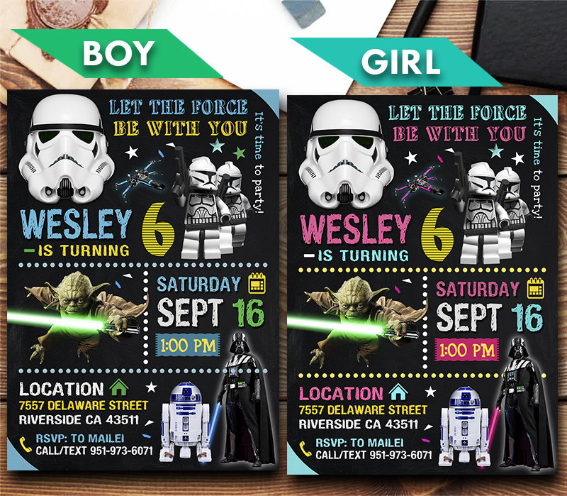 star wars invitation star wars invite star wars birthday party star wars printable diy