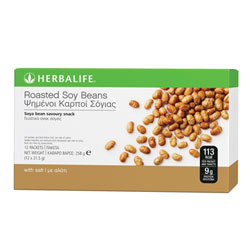 Herbalife Roasted Soy Beans - 12 pr box 21.5g