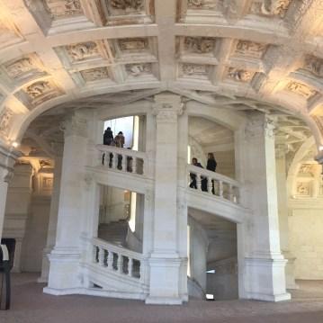 Double-helix staircase - Chateau de Chambord